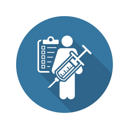 Vaccination and Medical Services Icon. Flat Design. Isolated.