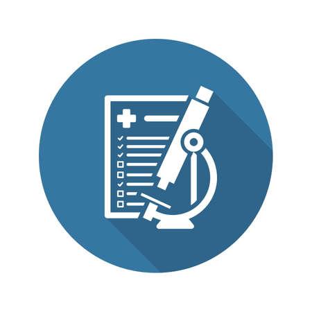 Laboratorium Analyse en Medical Services Icon. Plat ontwerp. Geïsoleerd.