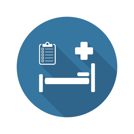 Hospital Care and Medical Services Icon. Flat Design. Isolated. Vector Illustration