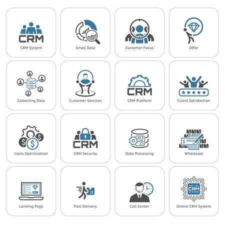 Piso de diseño de conjunto de iconos. Negocios y finanzas. Ilustración aislada. Ilustración de vector