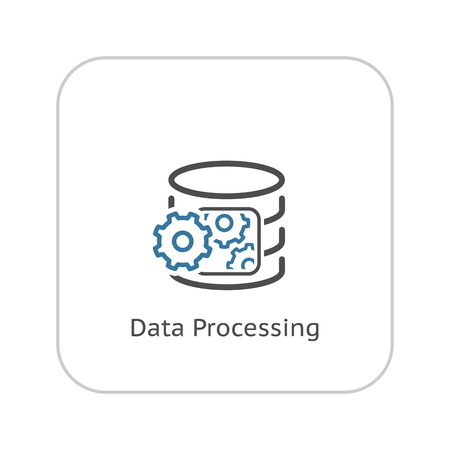 Data Processing Icon. Flat Design. Business Concept. Isolated Illustration. Stock Illustratie