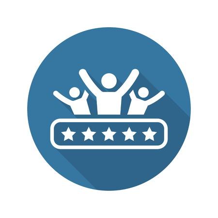 Icono de satisfacción del cliente. Negocios y Finanzas. Ilustración aislado.