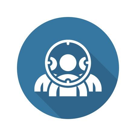 Customer Focus Icon. Flaches Design. Geschäftskonzept. Isolierte Illustration.
