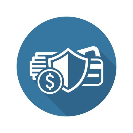 Transaction sécurisée Icône. Conception plat. Business Concept Illustration isolé. Vecteurs