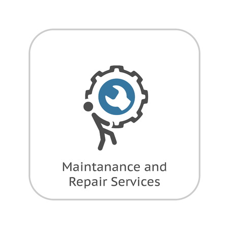 Maintanance and Repair Services Icon. Flat Design Isolated Illustration.