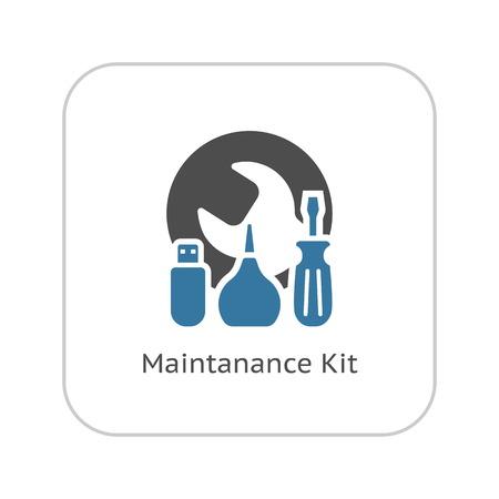 Maintanance Kit Icon. Flat Design Isolated Illustration.