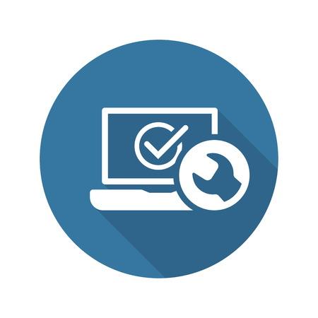 Laptop Repair Icon. Flat Design Isolated Illustration.