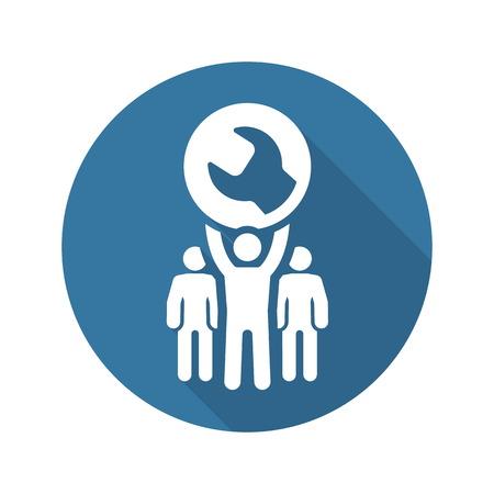 Service Support Icon. Flat Design Isolated Illustration. Illustration