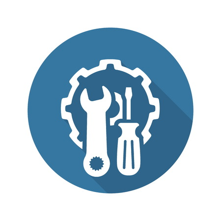 Repair Service Icon. Flat Design Isolated Illustration. Illustration