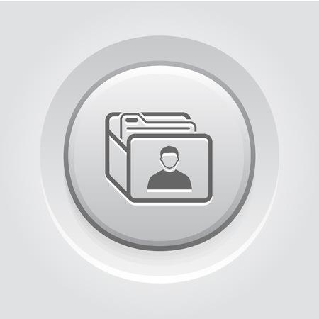 Icône de base à la clientèle. Concept d'affaire. Bouton Grey Design Vecteurs