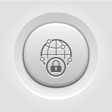 Security Point Icon. Business Concept Grey Button Design