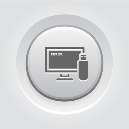 Advanced Repair Solutions Icon. Grey Button Design Illustration