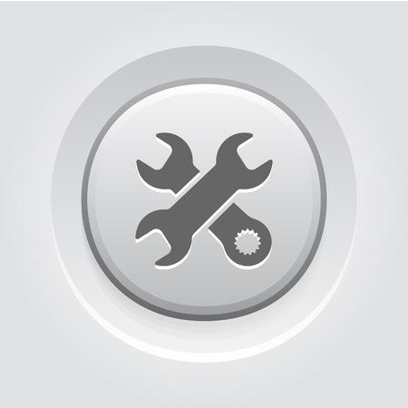 Repair Service Icon. Grey Button Design