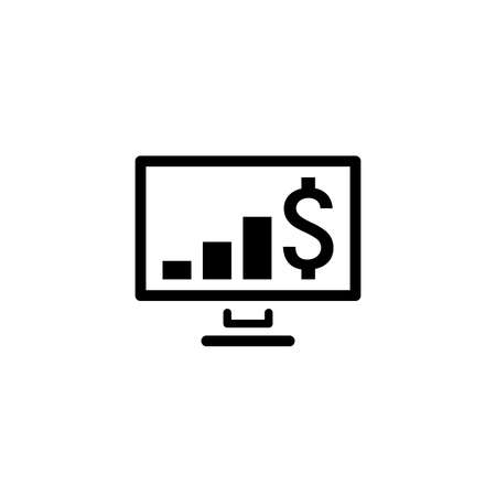 Expected Profit Icon. Business Concept. Flat Design.