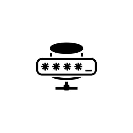 Database Protection Icon. Plat ontwerp.