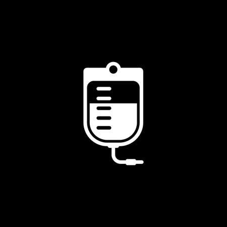 Blood Bag and Medical Services Icon. Flat Design. Illustration