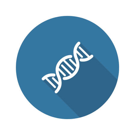 DNA and Medical Services Icon. Flat Design. Isolated. Ilustração