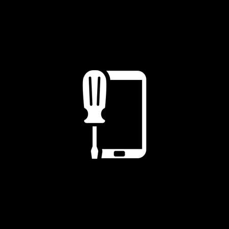 Mobile Repair Icon. Flat Design. Illustration