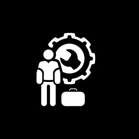 Service Man Icon. Flat Design.