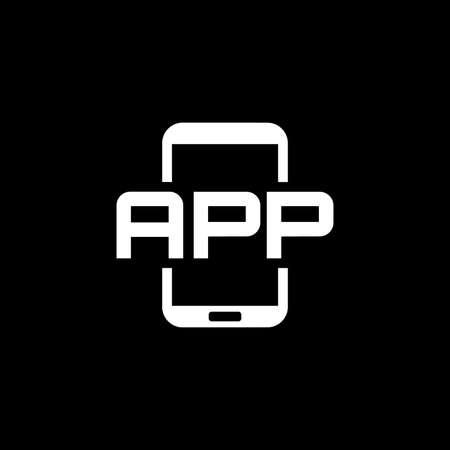 Mobile Application Icon. Flat Design.