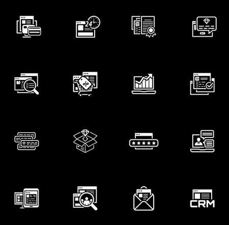 Shopping and Marketing Icons Set. Illustration