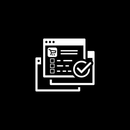 Order Processing Icon flat design illustration