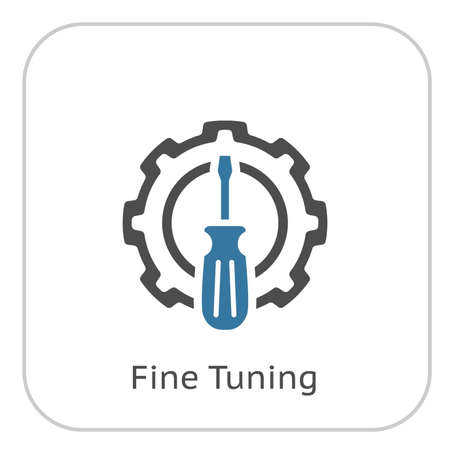 Fine Tuning Icon. Gear and Screwdriver. Service Symbol. Stock Vector - 88636205