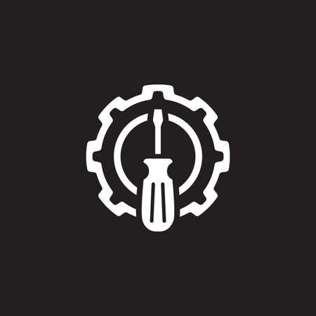 Fine Tuning Icon. Gear and Screwdriver. Service Symbol. Stock Vector - 90873929
