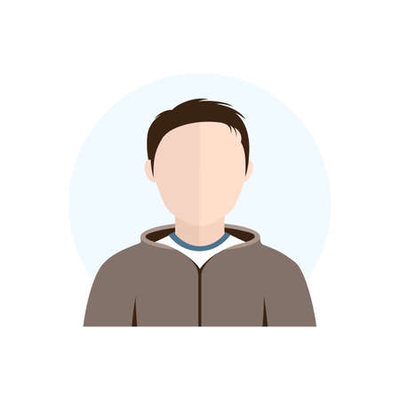 Vector Flat Style Character Avatar Icon Male Illustration