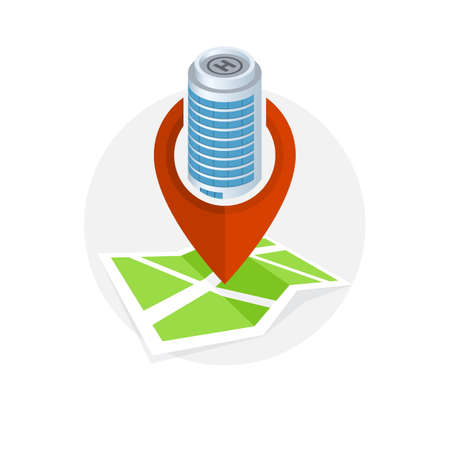 Location Icon. Locating Your Business. Illustration