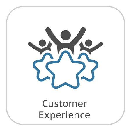 Customer Experience Line Icon. Client Satisfaction symbol. Customer Relationship Management. Isolated UI element.