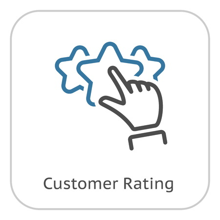 Best Choice Line Icon. Client Satisfaction symbol. Customer Relationship Management. Isolated UI element.
