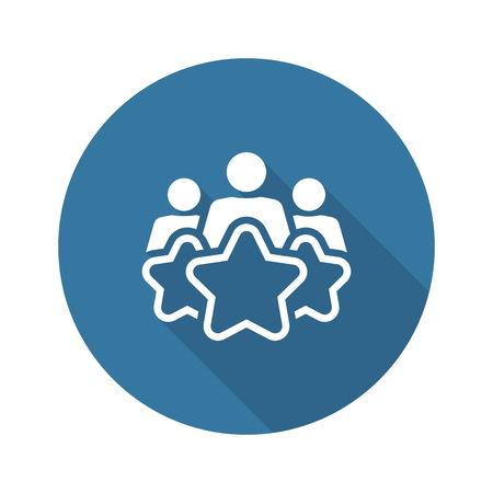 Customer Experience Line Icon. Client Satisfaction symbol. Customer Relationship Management. Isolated UI element. Vektoros illusztráció