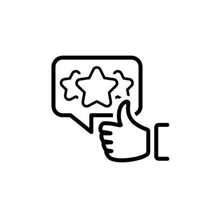Wertschätzung Symbol Leitung. Kundenzufriedenheitssymbol. Kundenbeziehungsmanagement. Isoliertes UI-Element.