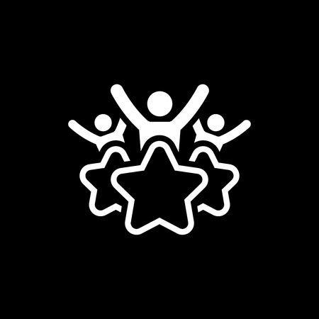 Icona della linea di esperienza del cliente. Simbolo di soddisfazione del cliente. Gestione delle relazioni con i clienti. Elemento dell'interfaccia utente isolato.