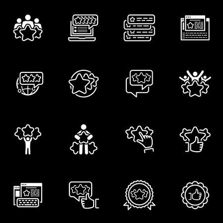 Eenvoudige reeks getuigenissen gerelateerde pictogrammen Vector Illustratie