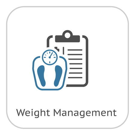 Weight Management Flat Icon Ilustrace