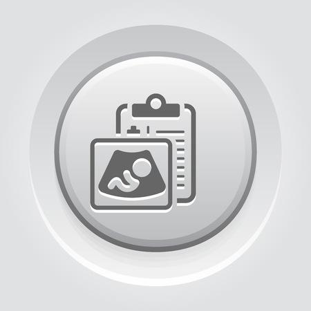 Ultrasonography Flat Icon Stock Photo