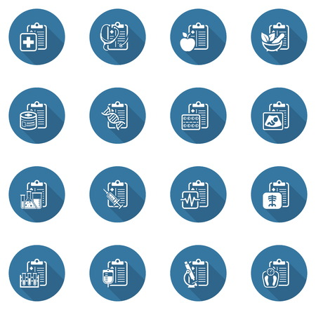 Medical Services and Health Care Flat Icons Set