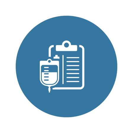 Blood Donation Flat Icon