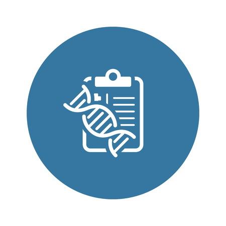 DNA Testing Flat Icon Stock Illustratie