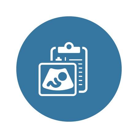 Ultrasonography Flat Icon Stock Illustratie