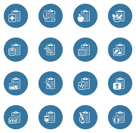 Medical Services and Health Care Flat Icons Set Stock Vector - 113007085
