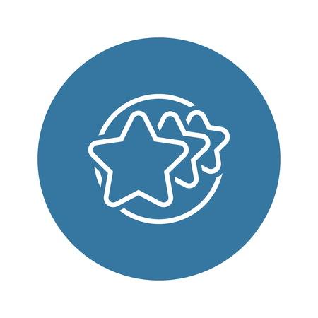 Customer Rating Line Icon. Stock Illustratie