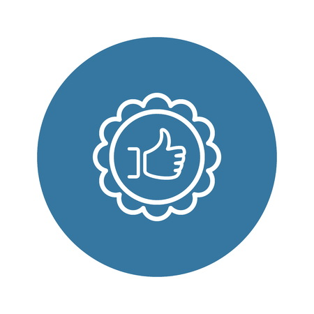 Customer Choice Line Icon. Client Satisfaction symbol. Customer Relationship Management. Isolated UI element.