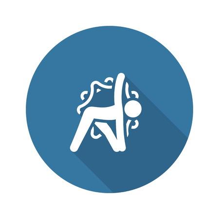 Yoga Triangle Pose Icon. Flat Design Isolated Illustration.