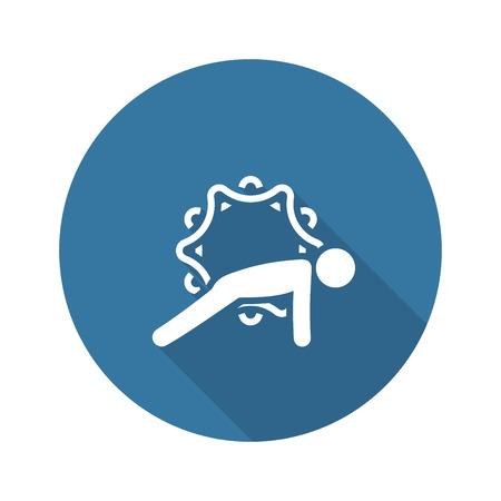 Yoga Plank Pose Icon. Flat Design Isolated Illustration.