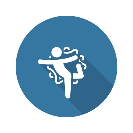 Yoga Lord of the Dance Pose Icon. Flat Design Isolated Illustration. Stock Illustratie