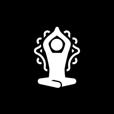 Yoga Meditation and Zen Icon. Flat Design Isolated Illustration.