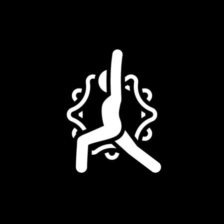 Yoga Warrior Pose Icon. Flat Design Isolated Illustration. Stock Illustratie
